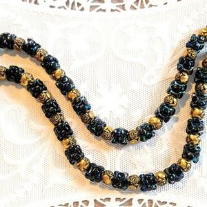 MAGIC VINTAGE NECKLACE-Black Chameleon Pearl